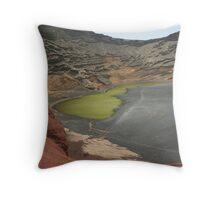 Charco de Los Clicos, El Golfo, Lanzarote Throw Pillow