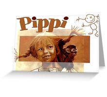 Pippi Longstocking - the fan version Greeting Card