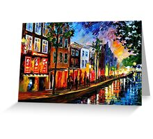 Amsterdam, Red Lights — Buy Now Link - www.etsy.com/listing/211932026 Greeting Card