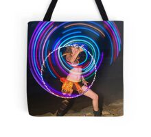 Psychedelic Hula Hoop at night  Tote Bag