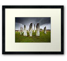 Callanish Storm Framed Print