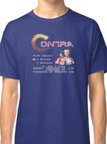 Contra (NES) Title Screen Classic T-Shirt