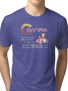 Contra (NES) Title Screen Tri-blend T-Shirt