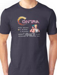 Contra (NES) Title Screen Unisex T-Shirt