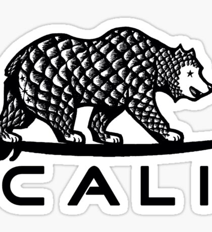 Black Cali Bear Sticker