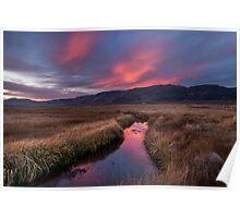 Upper Owens River Sunset Poster