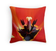 Red Center! - Red Tulip - NZ - Southland Throw Pillow