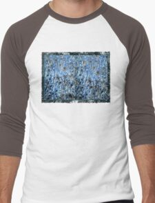 marbled paper - ink blue sea Men's Baseball ¾ T-Shirt