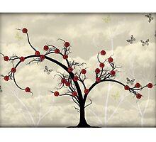 * butterfly tree card * by franzi