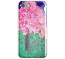Night Cherry Blossom Tree iPhone Case/Skin