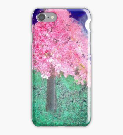 Night Cherry Blossom Tree iPhone Case/Skin