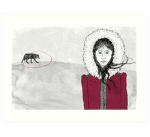 Wolf hunting Art Print