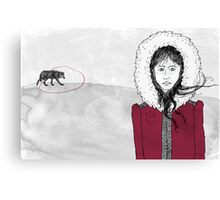 Wolf hunting Canvas Print