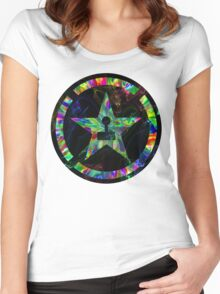 Psychedelic Achievement Hunter Women's Fitted Scoop T-Shirt