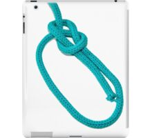 Bowline Knot on white background iPad Case/Skin
