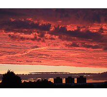 LARGE Sunset towers Photographic Print