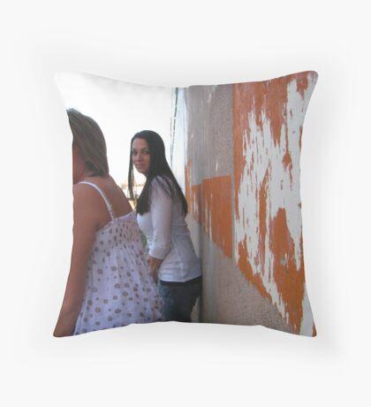 orange perceptions Throw Pillow