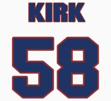 National football player Randy Kirk jersey 58 by imsport