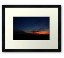 0083 - HDR Panorama - Farm at Sunset Framed Print