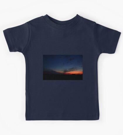 0083 - HDR Panorama - Farm at Sunset Kids Tee