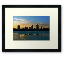 The Freezing of Lake Michigan Framed Print