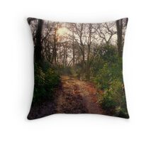 Forest Track Throw Pillow