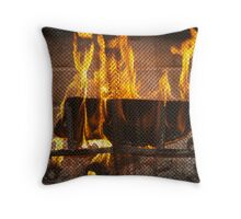 Warming your Winter Throw Pillow