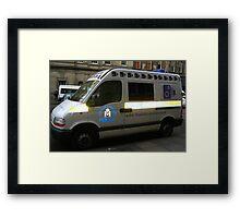 Police car, Edinburgh Framed Print