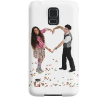 Young couple forms a heart shape with their arms  Samsung Galaxy Case/Skin