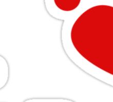 I Heart Pit Bulls Sticker