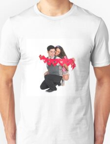 Young Couple with a heart shaped paper chain  Unisex T-Shirt