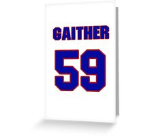 National football player Omar Gaither jersey 59 Greeting Card