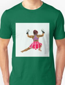 Female boxer flexes her muscles  T-Shirt