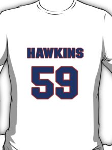National football player Andy Hawkins jersey 59 T-Shirt