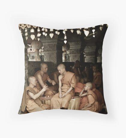 Monks Throw Pillow