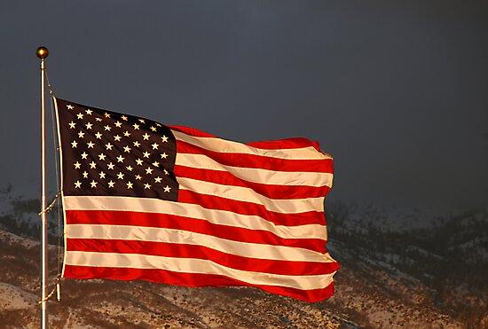 American Flag - Sunset by Ryan Houston