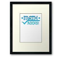 MATHS ROCKS with pi  Framed Print