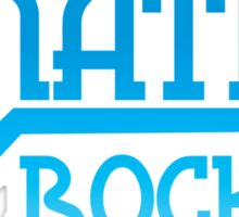 MATHS ROCKS with pi  Sticker