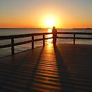 Sunset at the Fishing Pier  155 Views by Rosalie Scanlon