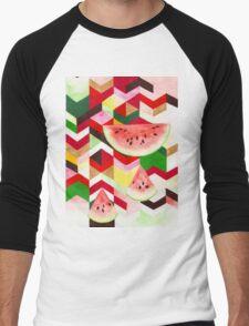 Watermelon Men's Baseball ¾ T-Shirt