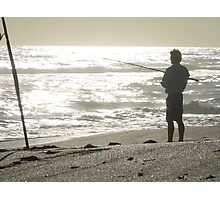 Fishing is his...... He is mine Photographic Print