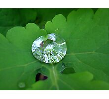 Water Diamond Photographic Print