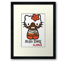 Hello Clarice Hello Kitty Framed Print