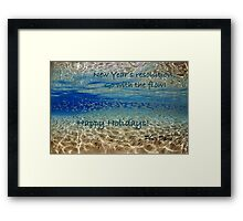 Underwater reflection holiday edition Framed Print