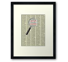 don't sniff my packets Framed Print