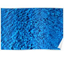 Blue Water - Background of Color Beauty Poster
