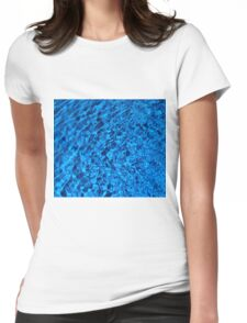 Blue Water - Background of Color Beauty Womens Fitted T-Shirt
