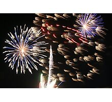 4th of July Fireworks Photographic Print