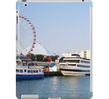 Navy pier with Ferris wheel Chicago harbor Illinois, USA  iPad Case/Skin