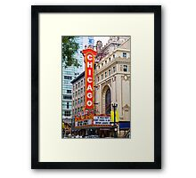 The Chicago theatre, Chicago, Illinois, USA Framed Print